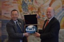 Офіційна зустріч керівництва нашого університету з делегацією з дружнього Ханшанського педагогічного університету