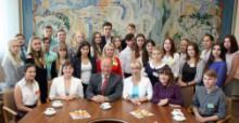 Зустріч студентів першого курсу з адміністрацією університету